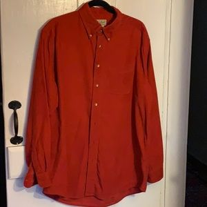LL Bean corduroy button down shirt